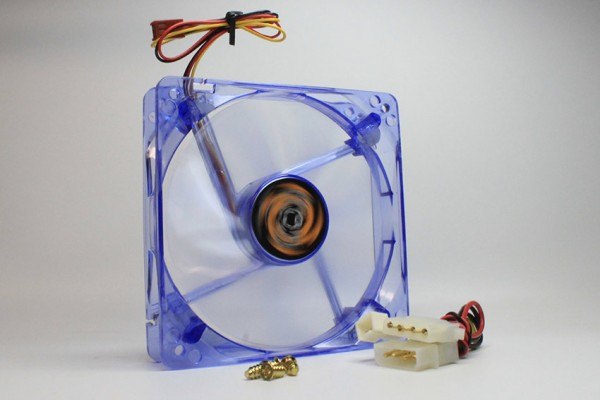 20 Gehäuselüfter, Lüfter, 120x120x25mm, LED, blue, casefan