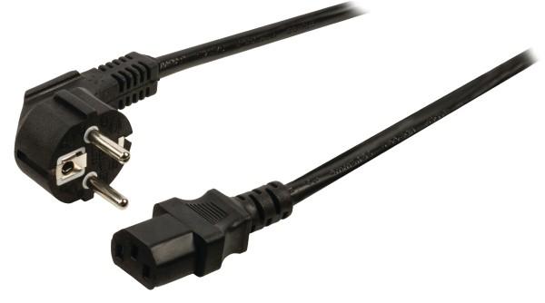 Schutzkontakt-Netzkabel Typ F (CEE 7/4) - IEC-320-C13 1,80m Schwarz