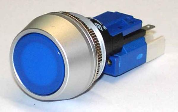 TH25 TASTER, Ø=25, Aluminiumfrontring, neutral, Steckanschluss