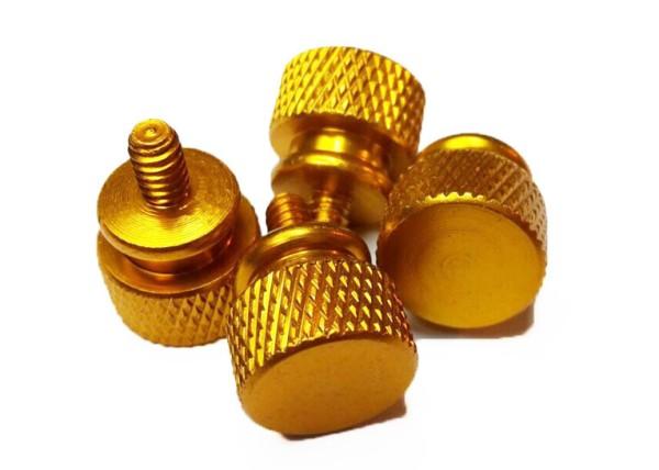 Thumb-screws golden, Set mit 4 Stück im Pack