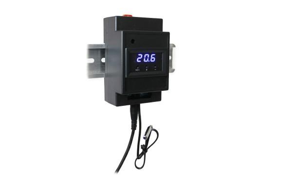 Thermostat [°C], elektronisch, Displayfarbe: Blau / LED
