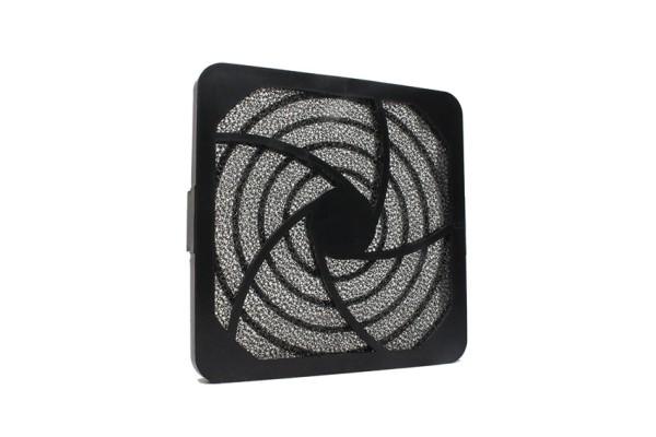 Lüfter Filter-Kit für Lüfter 92x92mm, Kunststoff, schwarz
