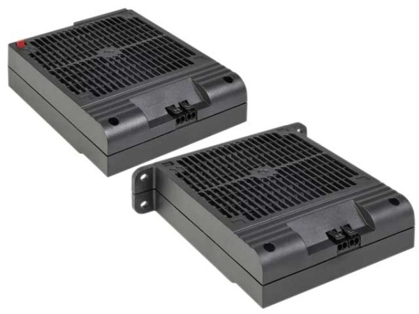Platzsparendes Heizgebläse ohne Lüfter HVI 030 Dreh-Clip AC 230 V, 500 W