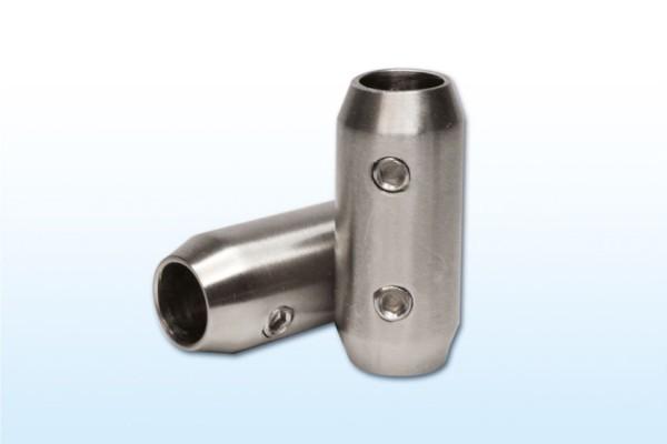 Längsverbinder für 10mm Rundmaterial, Edelstahl