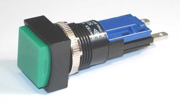 TH25 Taster, 18x18mm, Frontrahmen gerade, Lötanschluss