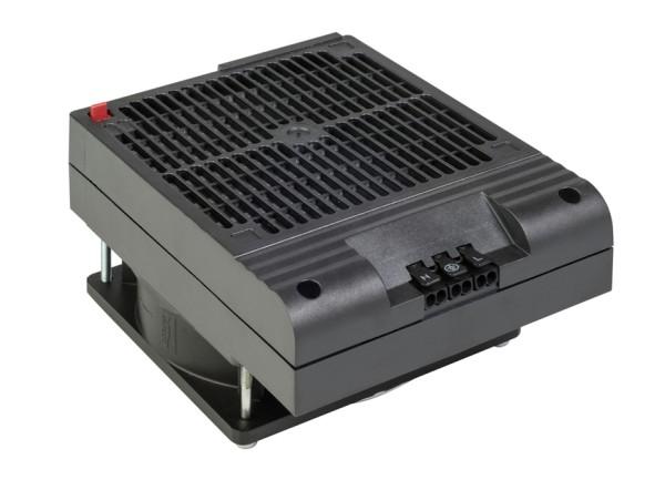 Platzsparendes Heizgebläse mit Lüfter HVI 030 Dreh-Clip AC 120 V, 500 W