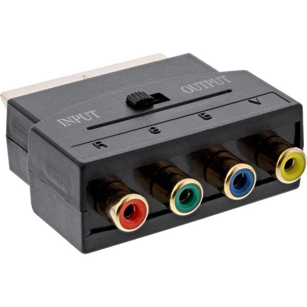 Scart Adapter, Scart Stecker an 4x Cinch Buchse (RGB+Composite)