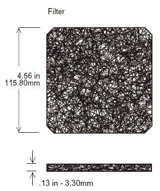 Filtermatte für Lüfter Filter-Kits 120x120mm 30 PPI