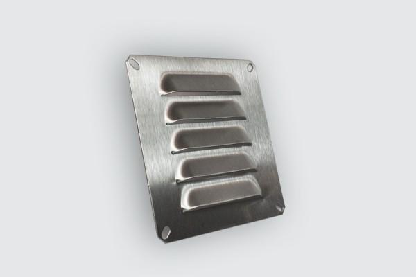 Kiemenblech 127x127mm Lüftungsgitter Edelstahl V2A, Lochabstand: 113,5x113,5