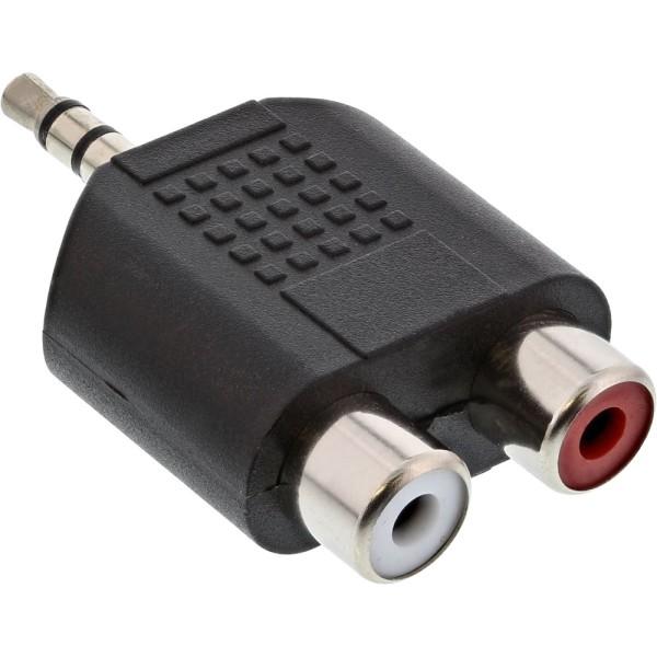 Audio Adapter, 3,5mm Klinke Stecker an 2x Cinch Buchse, Stereo