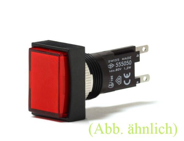 TH25 Signallampe, 18x24mm, Frontrahmen gerade, Steckanschluss