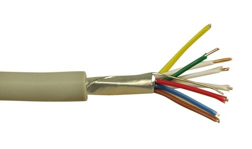 Telefon-Kabel 8-adrig, 4x2x0,6mm, zum Verlegen, 100m Rolle