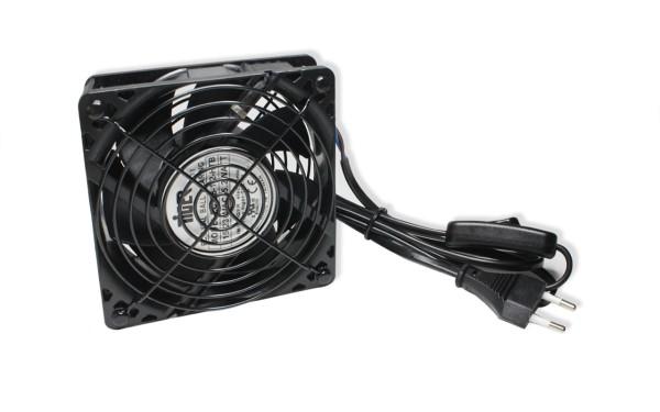 Belüftungseinheit 120x120x38mm 115~230V AC Kabel Mit Schalter, schwarz