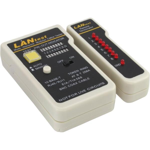 Tester für BNC, RJ11, RJ45 mit Tasche