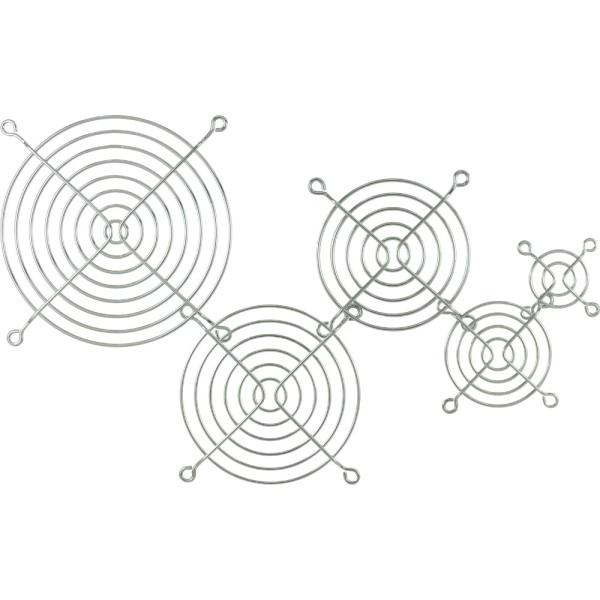 Lüftergitter Metall, verchromt, 92x92mm