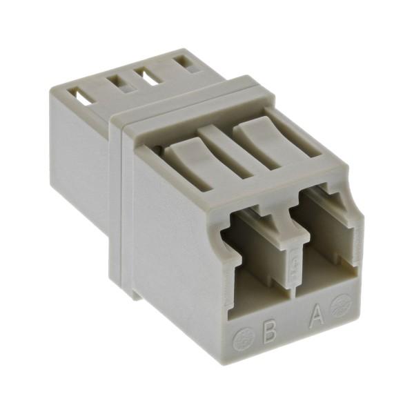 LWL Kupplung, Duplex LC/LC, multimode, beige, Keramik-Hülse