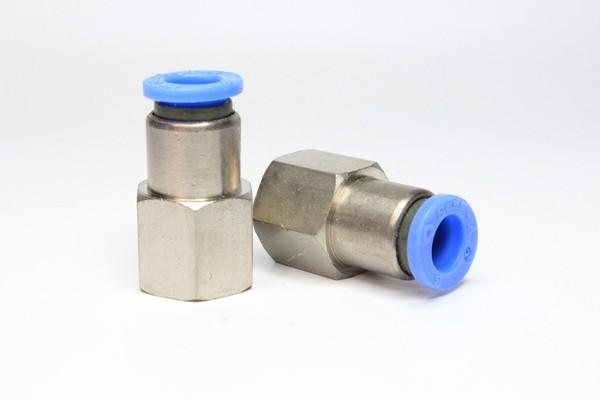 Push-In Anschluss gerade 1/4'' für PUN-Schlauch 8/5mm, 2 Stück