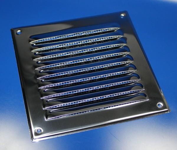 Kiemenblech 165x165mm Lüftungsgitter Edelstahl V2A