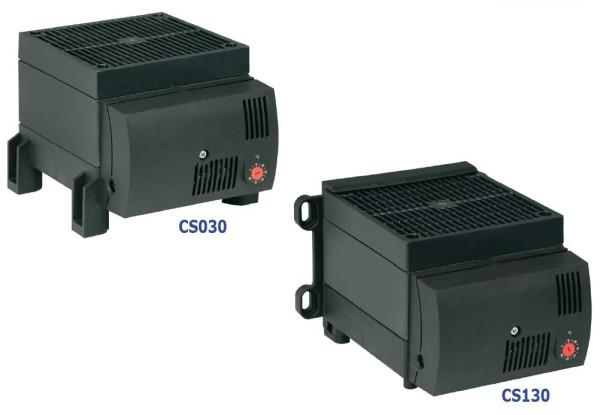 Kompaktes Halbleiter Hochleistungs-Heizgebläse mit Thermostat 0...+60°C