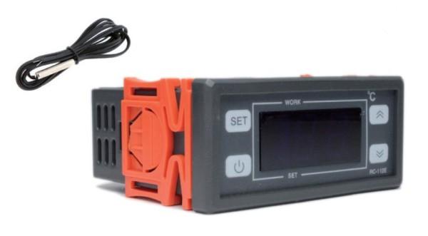 Temperaturregler 12V DC Heizen/Kühlen mit NTC-Sensor 10K