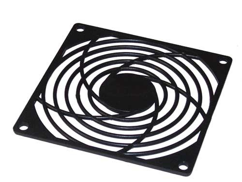 Kunststoff-Schutzgitter für Lüfter, 92x92mm, flach