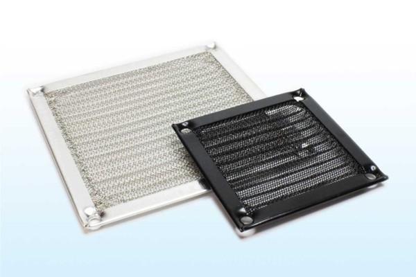 Aluminium-Schutzgitter 92x92mm schwarz