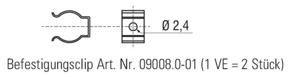 Befestigungsclip (1 VE = 2 Stück)