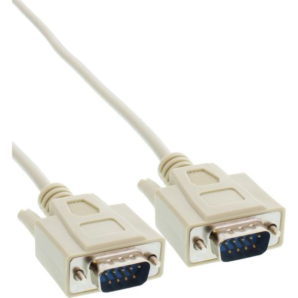 Serielles Kabel, 9pol Stecker / Stecker, vergossen, 1:1 belegt, 3m