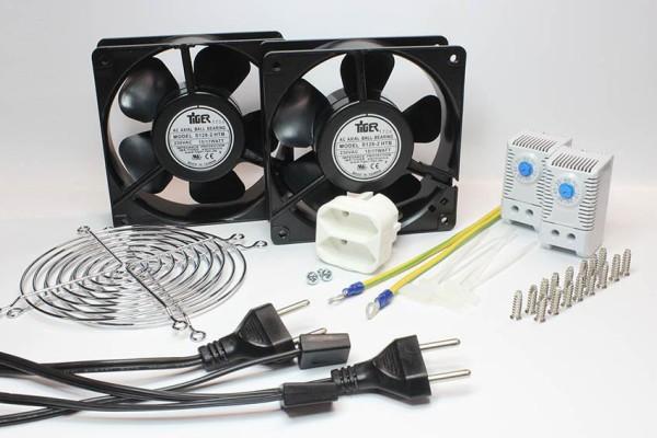 """Kühler Set """"2-2"""" für Serverschrank Kühlung, 230V AC"""