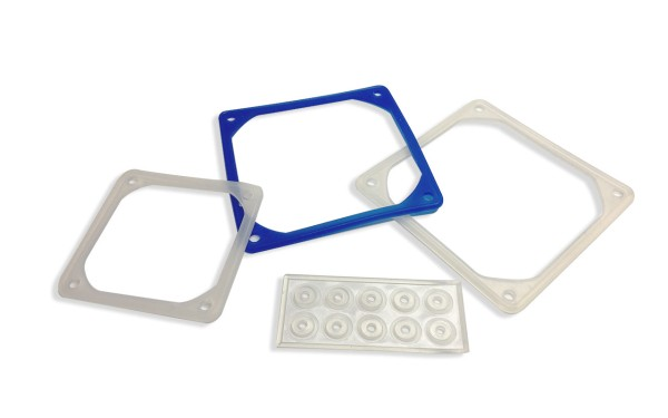 Vibrationsdämpfer für Kompaktventilatoren 80x80mm, Silikonmaterial