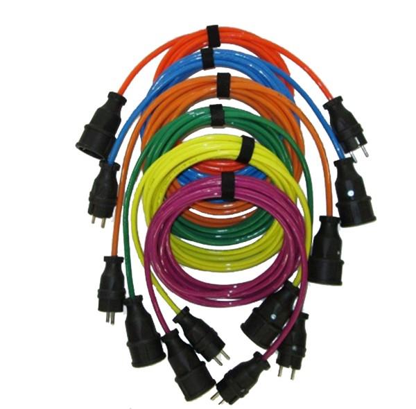 Verlängerungskabel, gelb, 5m, H07BQ-F, 3x1,5mm², bedruckbar