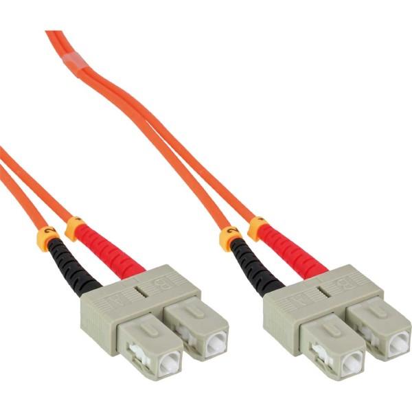 LWL Duplex Kabel, SC/SC, 50/125µm, OM2, 0,5m