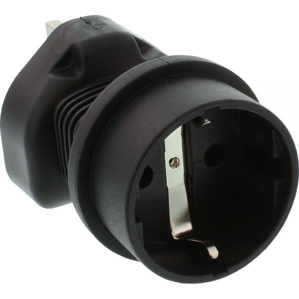 Reisedapter, England/Malta Stecker auf Schutzkontakt Buchse, 5 Ampere