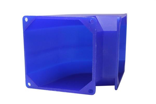 Luftleitrohr 80x80mm blau