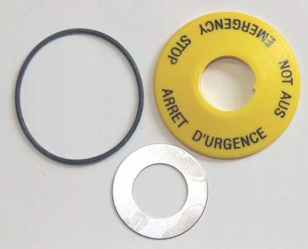 TH8 NOT-AUS- Adapter-Set Ø=22,5mm/16,2x5mm bedruckt