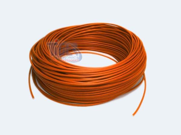 Drahtlitze 1x1mm², orange, Rolle m. 100m, H05V-K