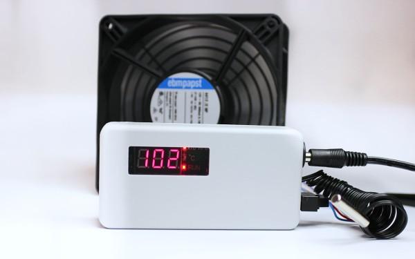 PAPST-Lüfter für Wandverteilergehäuse, Rack, uvm. 120²x38mm, 12V DC, vorbestückt