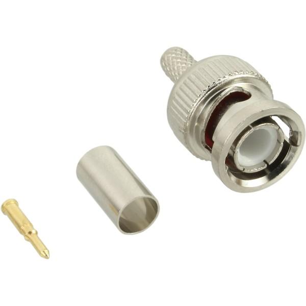 BNC Crimpstecker, RG59, für Video-Kabel