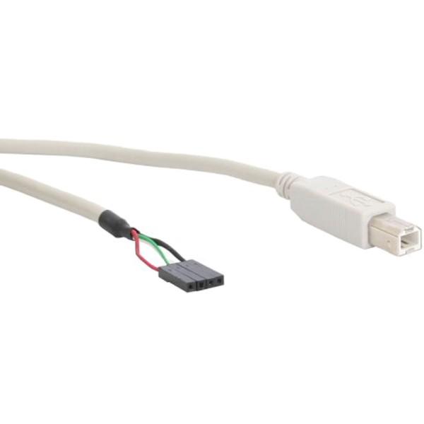 USB 2.0 Anschlusskabel, Stecker B auf Pfostenanschluss, 0,4m