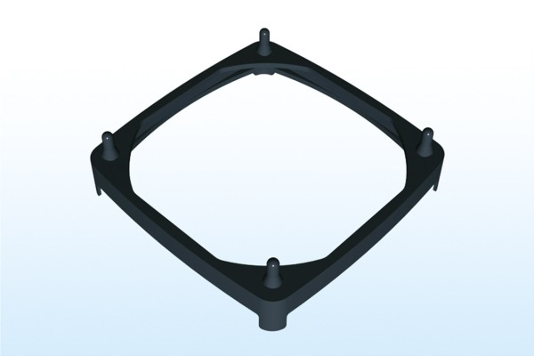 Steck-Lüftermanschette für 80x80mm Lüfter, Plattenstärke 0,75-1,5mm