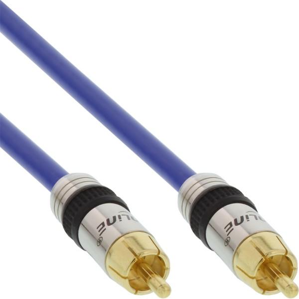 Cinch Kabel VIDEO & digital AUDIO, PREMIUM, vergoldete Stecker, 1x Cinch Stecker / Stecker, 1m