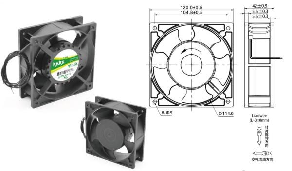 Lüfter Axial 100-240V AC 2800 U/min EC Fan