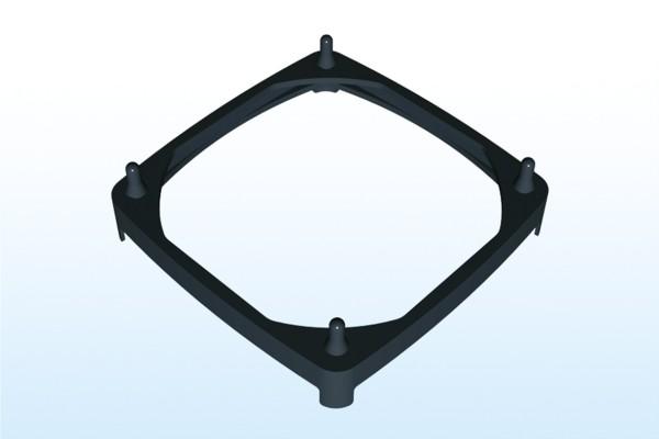 Steck-Lüftermanschette für 80x80mm Lüfter, Plattenstärke 2,0-3,5mm