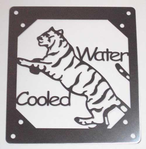 """Laser Cut """"Water Cooled Tiger"""" Abdeckung für 120mm Radiatoren - nur noch 2 Stk. verfügbar"""