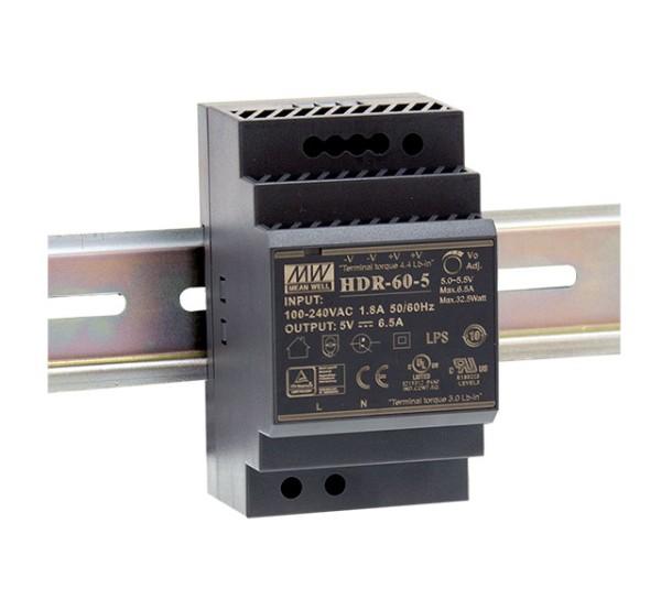 Hutschienennetzteil 48V DC, 60W, passend für TS-35 / 7.5 oder 15