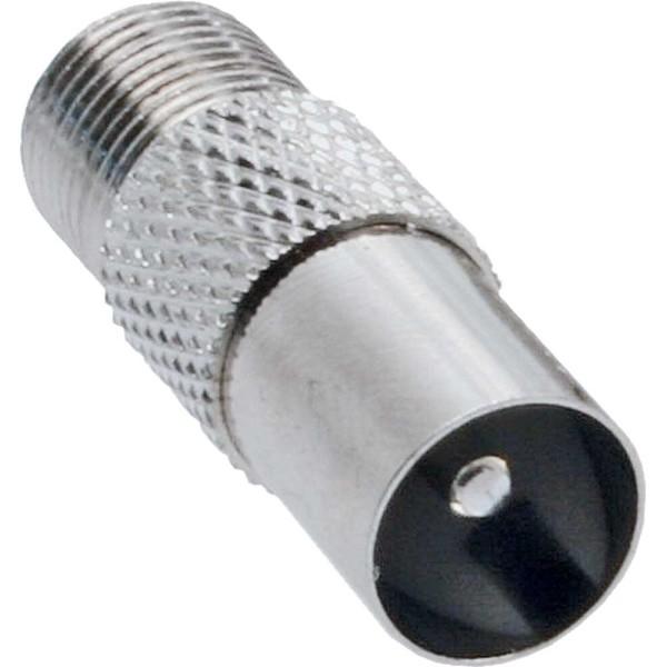 Koaxial Adapter, IEC- Stecker (Antenne) auf F-Buchse