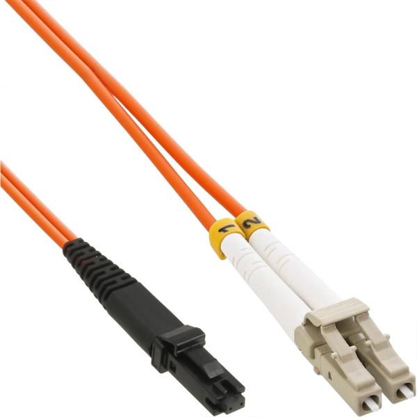 LWL Duplex Kabel, MTRJ/LC, 50/125µm, OM2, 10m