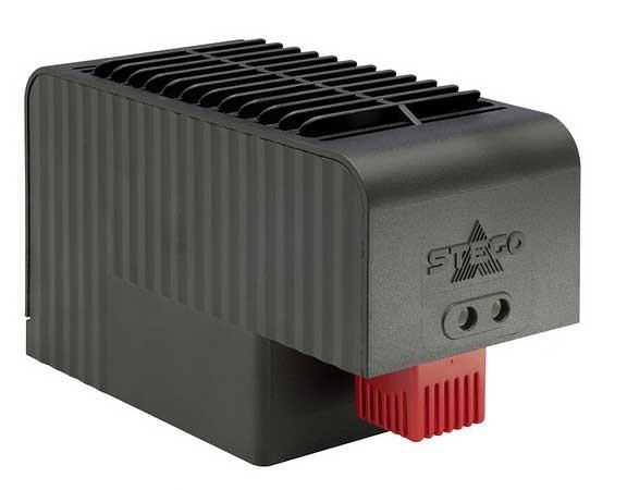 Kompaktes Hochleistungs-Heizgebäse mit integriertem Thermostat CSF 032 AC 230 V, 1000 W mit Clipbefestigung, 15 °C