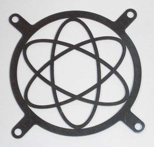 Lüftergitter Laser Cut Atomic 92x92mm