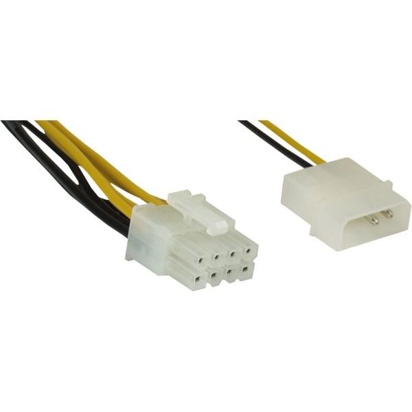 Stromadapter, 4pol zu 8pol, Netzteil zu Mainboard, 0,45m